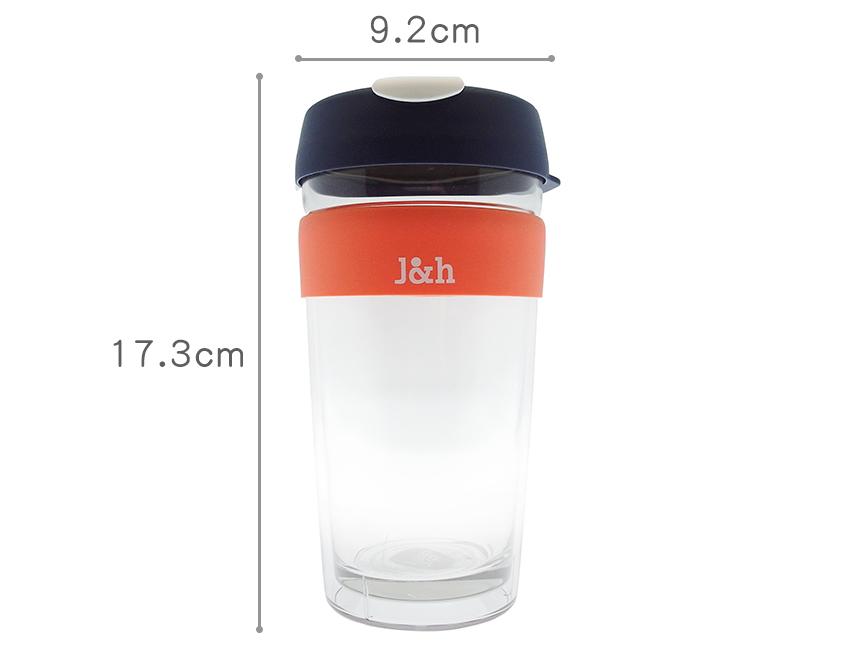 尺寸:L (大杯):9.2 × 17.3cm,容量:454ml(16oz), 淨重:417g