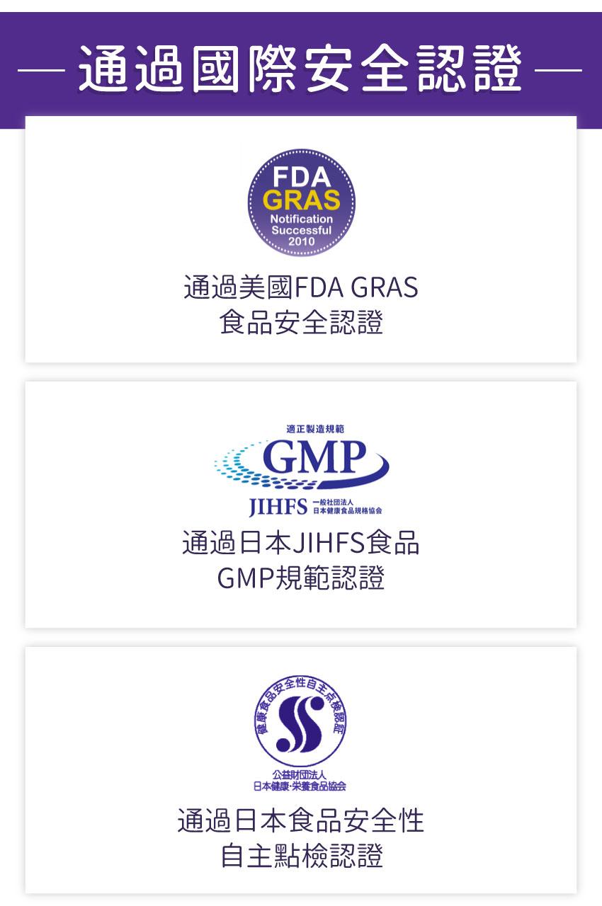 蝦紅素,專利認證,FDA,JIHFS,食品安全性自主點檢認證