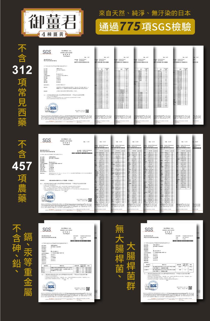 通過775項SGS檢驗